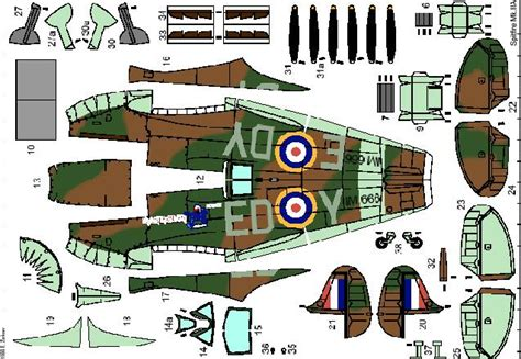Ww2 Papercraft - paper craft planes march 2012