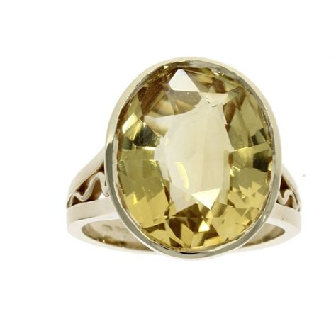 Citrine Gold Cutting 908 9ct yellow gold oval cut citrine solitaire ring nicholas wylde