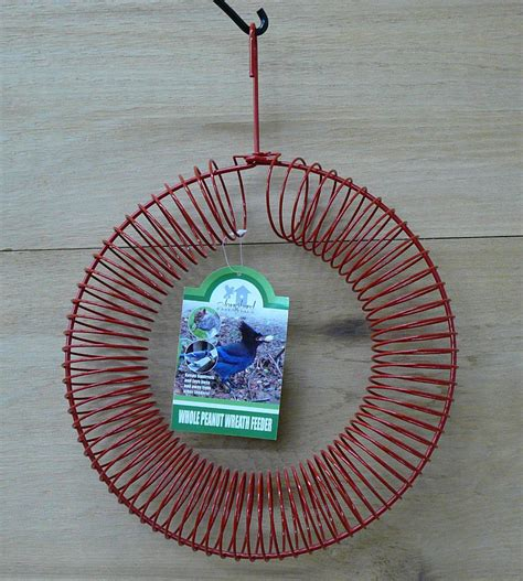 songbird essentials red whole peanut metal wire wreath