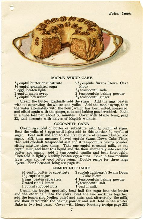 printable cake recipe maple syrup cake free vintage clip art old design shop