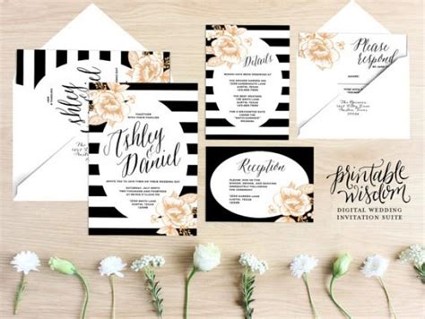 printable wedding invitation suites stripes wedding printable wedding invitation 2234333