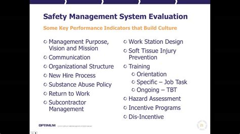 Mba In And Safety Management Course by Safety Management System Evaluation