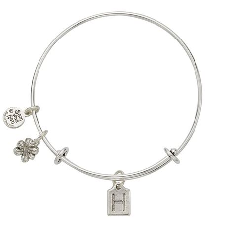 letter for bracelets letter h charm bangle bracelet