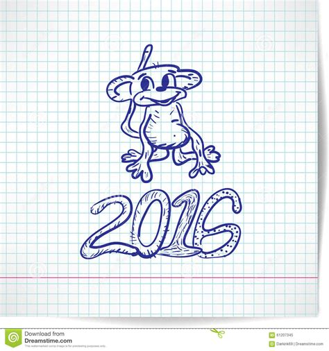 new year themed paper background for a new year theme with monkey 2016 on a