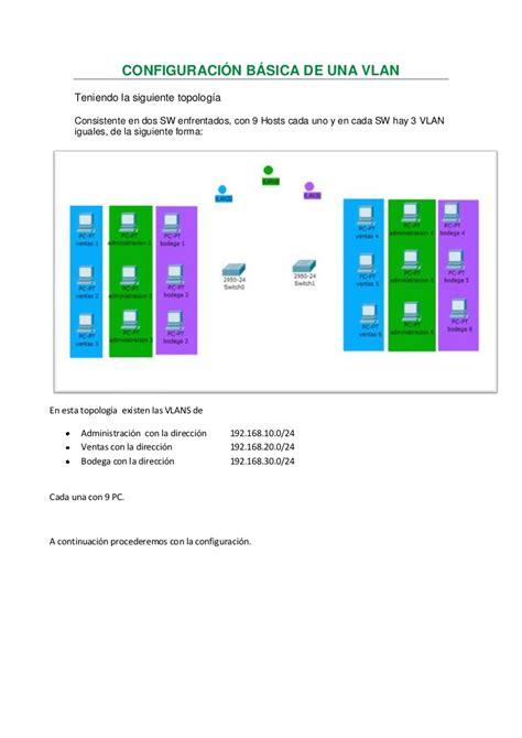 vlan tutorial powerpoint configuraci 243 n b 225 sica de una vlan