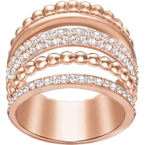 Bague Swarovski Click CLICK CRY ROS   Bague Or Rose Cristal Femme sur Bijourama, référence des