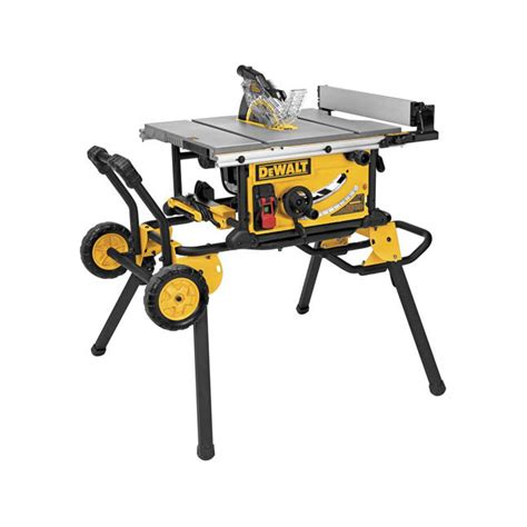 dewalt saw bench stand dewalt dwe7491rs 10 quot jobsite table saw w rolling stand