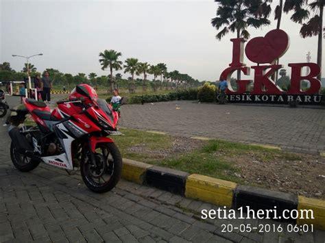 Honda Cbr 150 Merah Surabaya catatan njajal numpak honda all new cbr150r buat