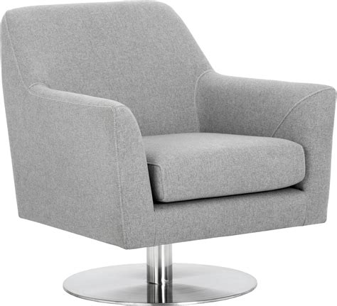Grey Swivel Chair by Doris Monday Grey Upholstered Swivel Chair From Sunpan
