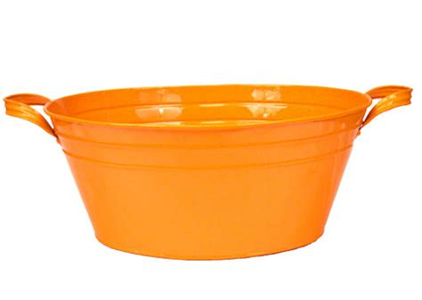 orange bathtub orange enamel vintage style oval beverage tub tailgating