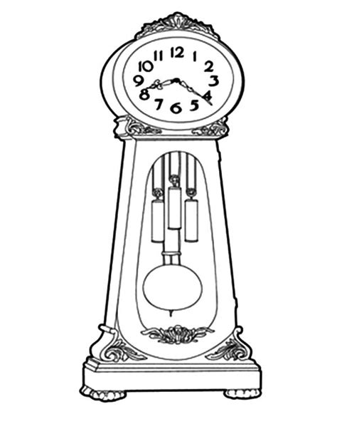 printable grandfather clock grandfather clock how to draw grandfather clock
