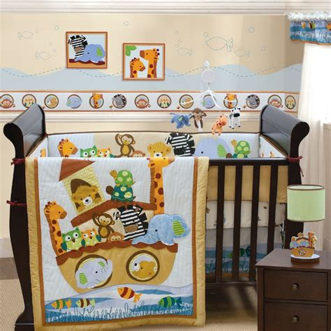 noah ark crib bedding