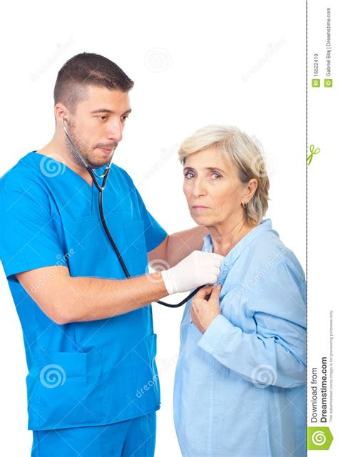 Worried About Background Check Worried Doctor Checkup Sick Senior Royalty Free Stock Images Image 16522419