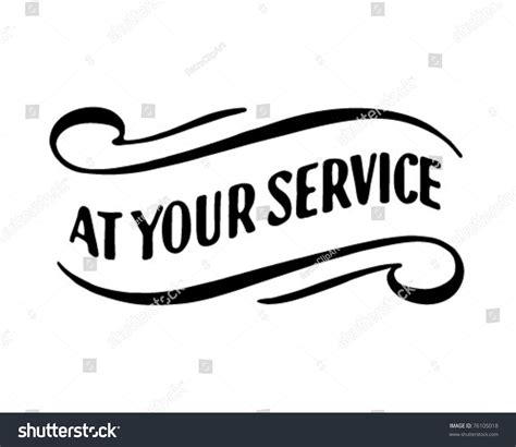 your service your service 2 retro ad stock vector 76105018