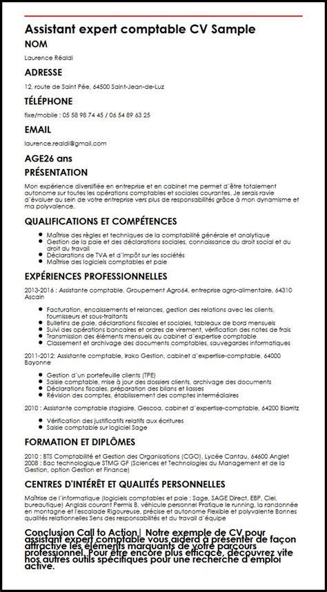 Cabinet Comptable En Anglais by Modele De Cv Assistant Expert Comptable Moncvparfait