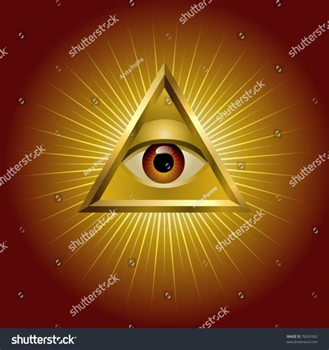 all seeing eye in the all seeing eye stock vector 76929382