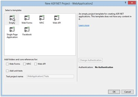 templates for asp net projects asp net mvc and identity 2 0 understanding the basics
