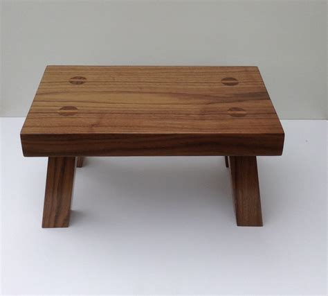 Wood Foot Stool wood foot stool made from solid black walnut step stool that