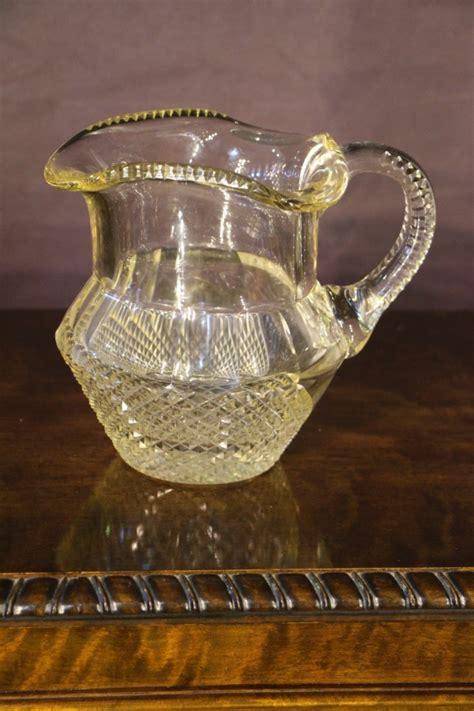 buy late georgian irish glass jug pitcher  antiques  design