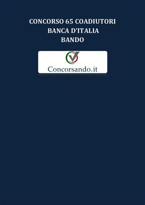 concorso in d italia concorso 65 coadiutori d italia bando