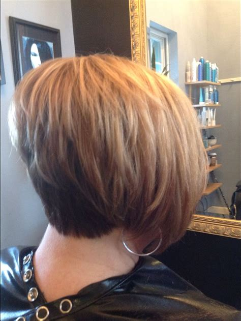 short stacked haircut so fun michele busch by tracey at voila hair and day spa short stacked bob