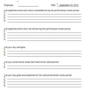 staff evaluation templates staff evaluation 9 free sles exles format