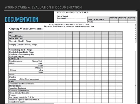wound care forms template wound care documentation template wound documentation