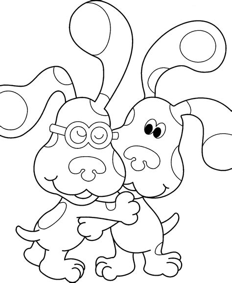 nick jr blue s clues coloring pages nick jr coloring pages 6 coloring kids