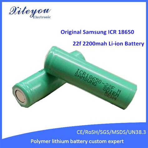 Samsung Icr18650 22fu Lithium Ion Battery 3 7v 2200mah 14 Days original samsung icr 18650 22f 2200mah 3 7v li ion lithium ion battery buy lithium ion battery