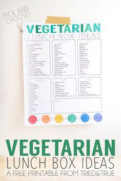 printable easy vegetarian recipes packed lunch box ideas free printable favorite