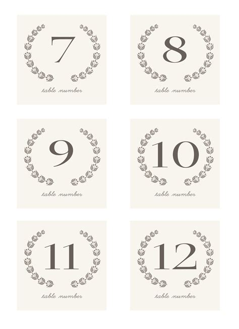 free printable vintage numbers 8 best images of free printable vintage table numbers