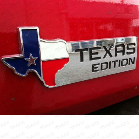 3 edition chrome auto emblem decal car truck state