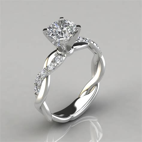 Engagement Rings For by Twist Cushion Cut Engagement Ring Puregemsjewels