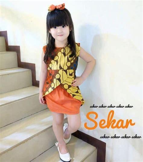 33  Model Baju Batik Anak 2019 (Perempuan & Laki Laki