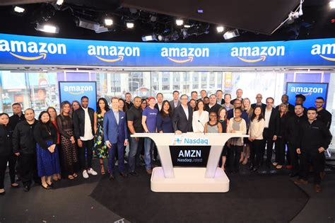 Amazon Nasdaq | amazon rings the nasdaq opening bell in celebration of