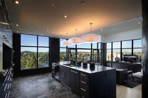 elegant  modern black kitchen designs