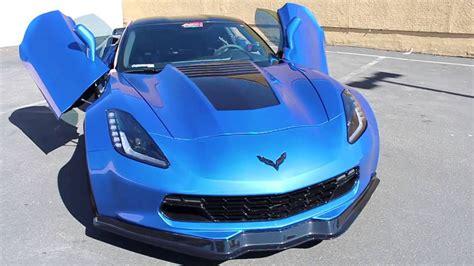 blue corvette chevrolet corvette blue chrome