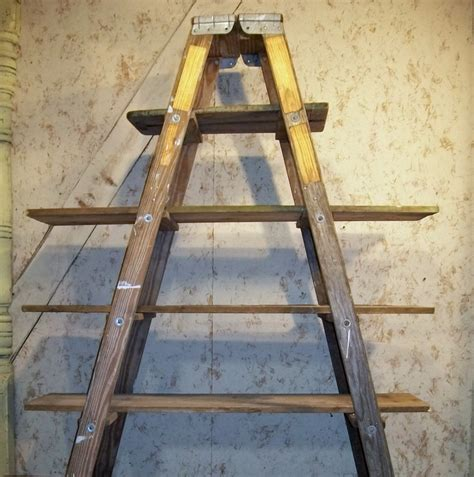 5 step ladder shelf frame we will paint or leave it