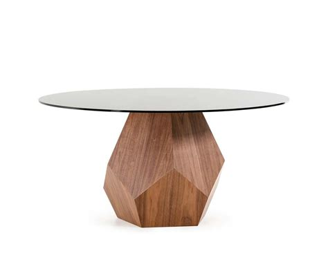 modern glass top dining table walnut dining table with smoked glass top vg928 modern