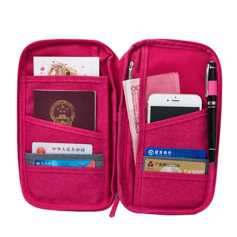 Casing Id Card Multi Fungtion מוצר new multi function travel wallet big capacity passport cover documents id card
