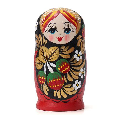 Matryoshka Collection Set 5pcs set wooden doll matryoshka nesting russian babushka