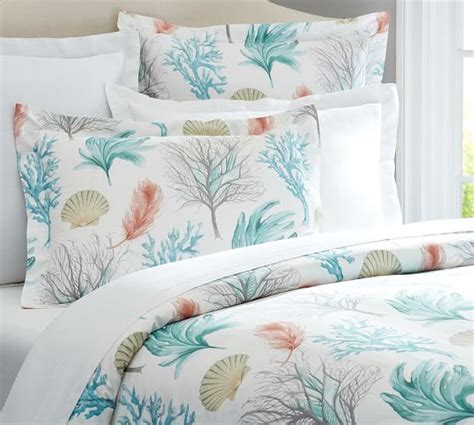 sham bedding del mar coastal duvet cover sham pottery barn