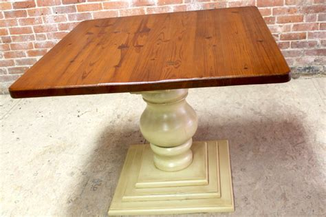 square dining table with pedestal base farmhouse
