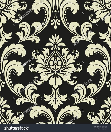 pattern baroque vector floral pattern wallpaper baroque damask seamless stock