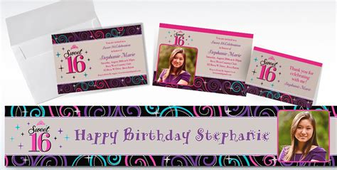 Custom Note 16 custom celebrate sweet 16 invitations thank you notes