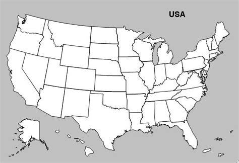 usa state map blank blank maps of united states and canada