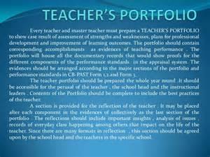 teacher s portfolio