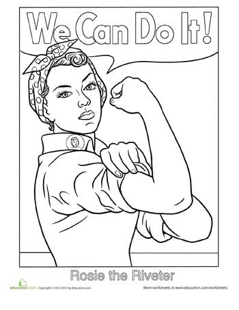 coloring pages for us history rosie the riveter coloring page worksheets history and