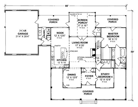 one level country house plans house plan 68162 at familyhomeplans com
