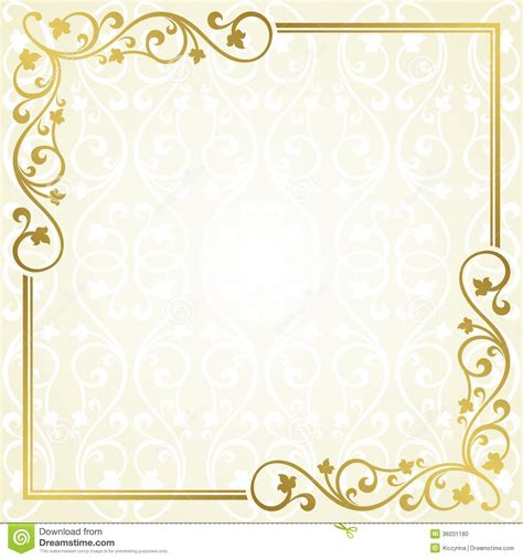 wedding invitation card design template free card design ideas soft gold colored invitation